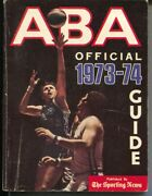 Aba Official Basketball Guide 1973-74-team And Player-pic-bios-vg/fn