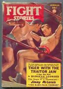 Fight Stories Pulp Summer 1949-george Gross Boxing Cover Vg