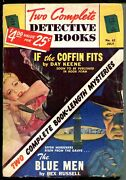 Two Complete Detective Books 07/1950-george Gross Good Girl Art-pulp Crime-vg