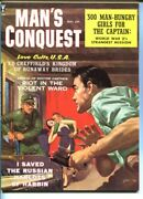 Man's Conquest-june-1959-pulp Thrills-george Gross Cover Art- Cheesecake-vf