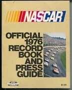 Nascar Auto Race Yearbook 1976-official Records-pix-stats-info-petty-parsons-vf-