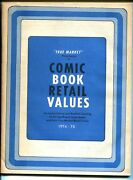 True Market Comic Book Retail Value And Price Guide 1974-2nd Edition-blue Cover-vg