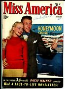 Miss America Vol. 7 6 1948-timely-patsy Walker-comics-photo Cover-fashion-vg/fn