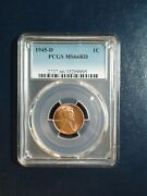 1945 D Lincoln Wheat Cent Pcgs Ms66 Red Gem 1c Coin Priced To Sell Now