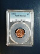 1954 S Lincoln Wheat Cent Pcgs Ms66 Red Gem 1c Coin Priced To Sell Now