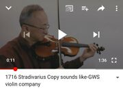 4/4 Stradivarius 1716 Copy Antique Style With Free Caseandtonica Strings See Video