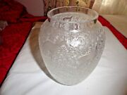 Lalique Biches Vase Frosted Crystal Excellent Condition Signed And Authentic