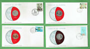 D388. Stamped Envelopes And Coins - Jersey, Guatemala, Isle Of Man, Vanuatu