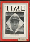 October 4 1948 Time Magazine With Joe Dimaggio New York Yankees Front Cover Ex