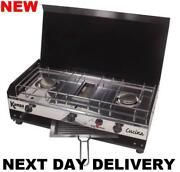 New Kampa Cucina Camping Double Burner Hob And Grill Gas Cooker Stove