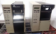 Lot Of 2 Zebra Thermal Barcode Label Printers 90xiii And 110xiiii Plus For Parts