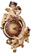 Uhr Mit Engel - Wall Clock Wood Carved With Angels