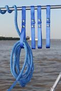 4 Pk Boat Railing Straps Holds Rope On Boat Accessories Blue Free Shipping