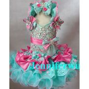 Infant/toddler/baby/children/kids Girl's Glitz Pageant Dress/clothing G015a