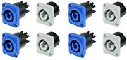 4 Pair Neutrik Nac3mpa-1 And Nac3mpb-1 Power In/out Powercon Panel Mount 20a/250v