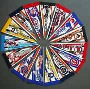 1990s Lot Of 15 Mini Mlb Baseball Pennants Cubs Mets Braves Giants And More Lot-2b