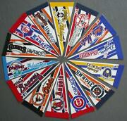 1990s Lot Of 14 Mini Mlb Baseball Pennants Cubs Braves Orioles And More Lot-3b