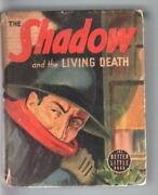 Shadow And The Living Death-big Little Book-1430-1940-pulp Vg