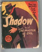 Shadow And The The Master Of Evil-big Little Book-1443-1941-pulp Vg