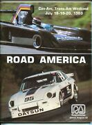 Road America 7/18/80-can-am + Trans-am Race Program-scca-jackie Ickx--holbert-fn