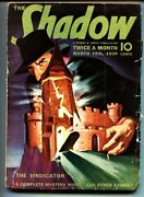 The Shadow Pulp March 15 1939- The Vindicator Vg