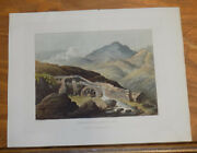 1821 Print Aquatint Tour Of English Lakes///copper Mill Coniston Fell