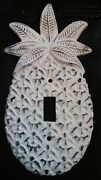 Unique 3d White Distressed Cast Iron Pineapple Single Toggle Switchplate 2 Avl
