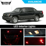 Red Led Interior Lights Accessories Package Kit Fits 2007-2013 Chevy Avalanche
