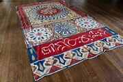 Antique Egyptian Embroidered Applique Wall Hanging Panel Suzani