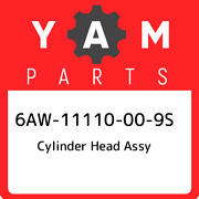 6aw-11110-00-9s Yamaha Cylinder Head Assy 6aw11110009s New Genuine Oem Part