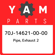 70j-14621-00-00 Yamaha Pipe Exhaust 2 70j146210000 New Genuine Oem Part