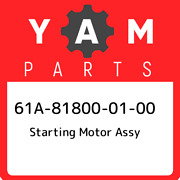 61a-81800-01-00 Yamaha Starting Motor Assy 61a818000100 New Genuine Oem Part