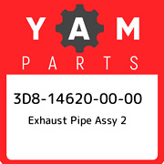 3d8-14620-00-00 Yamaha Exhaust Pipe Assy 2 3d8146200000 New Genuine Oem Part
