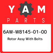 6aw-w8145-01-00 Yamaha Rotor Assy With Bolts 6aww81450100 New Genuine Oem Part