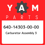 64d-14303-00-00 Yamaha Carburetor Assembly 3 64d143030000 New Genuine Oem Part