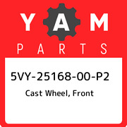 5vy-25168-00-p2 Yamaha Cast Wheel, Front 5vy2516800p2, New Genuine Oem Part