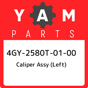 4gy-2580t-01-00 Yamaha Caliper Assy Left 4gy2580t0100, New Genuine Oem Part