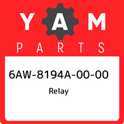 6aw-8194a-00-00 Yamaha Relay 6aw8194a0000 New Genuine Oem Part