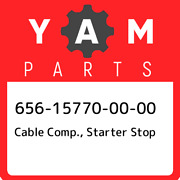 656-15770-00-00 Yamaha Cable Comp. Starter Stop 656157700000 New Genuine Oem P