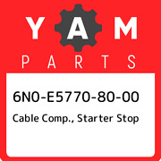 6n0-e5770-80-00 Yamaha Cable Comp. Starter Stop 6n0e57708000 New Genuine Oem P