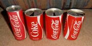 4 Diff- Vintage And Rare Coca-cola Foreign Very Old Soda Can Lot Asia Singapore