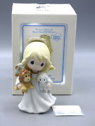 Precious Moments Peace On Earth 111018 Little Angel W/ Lion And Sheep Mint New