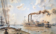 John Stobart Remarque - New Orleans The Roband039t E. Lee Leaving In 1875 69/100