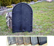 395 X 59 Cast Iron Fire Door Clay / Bread Oven / Pizza Stove Smoke House Dz062