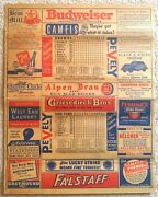 1944 St Louis Browns Program V Ny Yankees-final Game Of Season/pennant Clincher