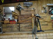 Antique Johnson Outboard Motor Wooden Shipping And Storage Box Crate Sea Horse A