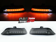 White/amber Front Led Drl/sequential Turn Signal Light For 2015-17 Ford Mustang