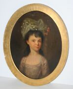 Two 18th Century British Oil Portraits-daughters Of Rev. Robert And Sarah Fletcher