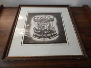 Signed In Pencil Marie Welsh 5/40 Ltd Edition Etchingcarousel Music Box Intntl