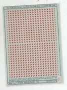 Sw-1500 Ho Scale Sill Stripe Hashed Red For Use With Athearn Sw-1500